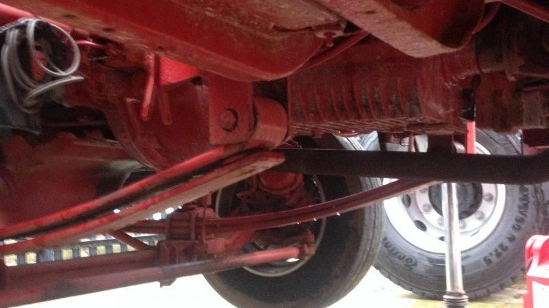 Underneath the Bison 285K.