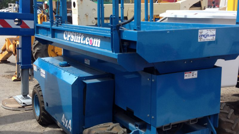 The used Genie 3268 diesel scissor we have for sale.