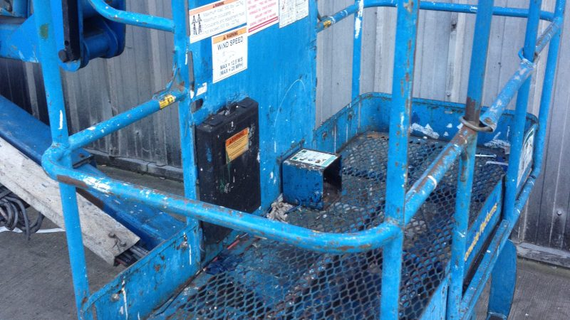 The basket on the Genie Z45 25 Bi-fuel we have for sale.