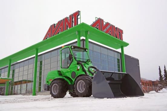 An Avant loader outside the Avant factory.