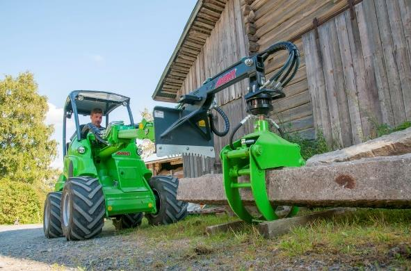 Avant loader with grapple.