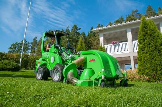 Avant Loader with mower.