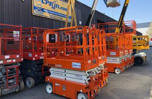 Scissor lifts available for hire or lease.