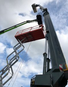 Bronto Skylift out on hire.