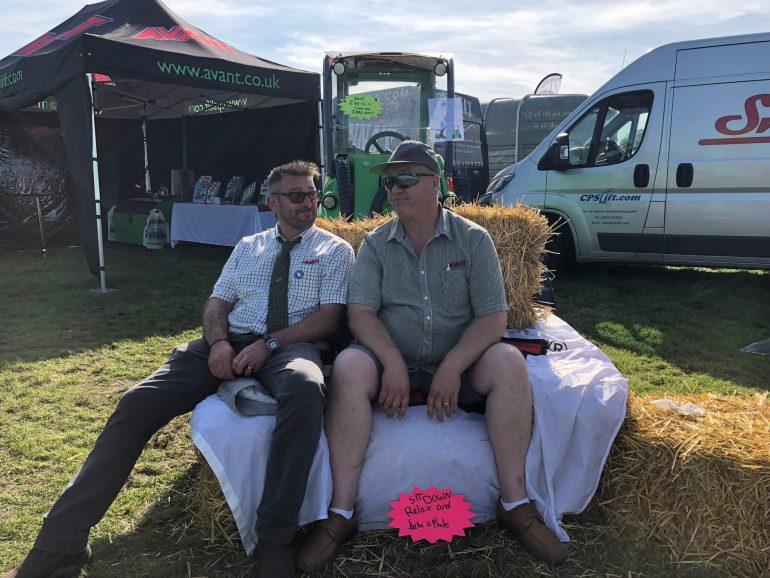 John Burton and Paul Debnman enjoying a sit down at the Harrogate Autumn Flower Show.