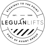 Leguan straight to the point access platforms logo.