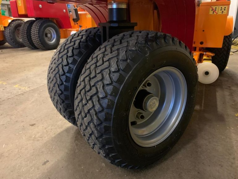 Outdoor tyres available on Smartlift glass lifting equipment.