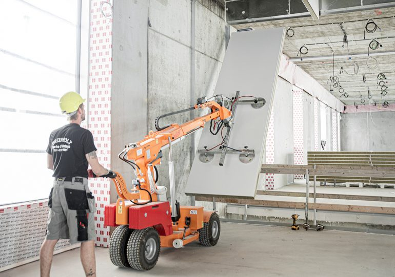 A Smartlift lifting panelling.