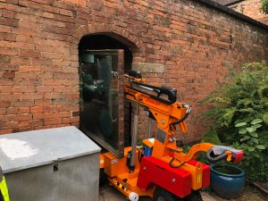 A Smartlift from CPS Lift out on hire.