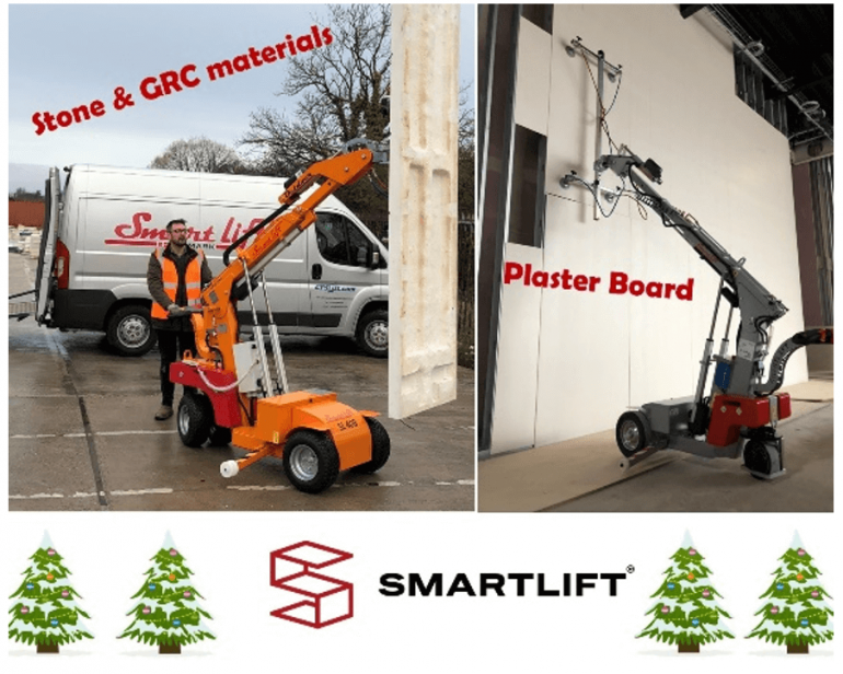 Smartlift robots lifting other materials such as plasterboard.