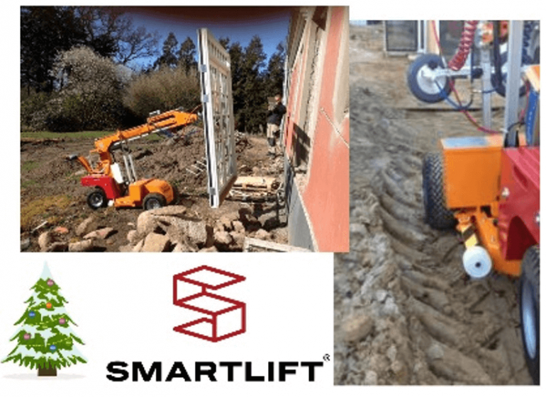 Smartlift robots can operate on tough terrain.