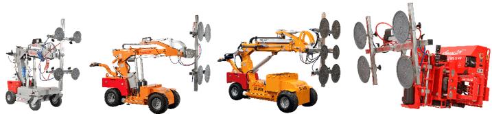 A range of Smartlift robots.